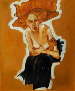 Wall Canvas Art Oil Painting 20 24 Scornful Woman Egon Schiele