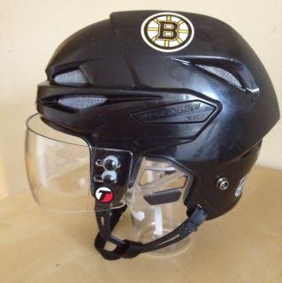 Easton Stealth S17 Hockey Helmet Pro Half Shield Visor Boston Bruins