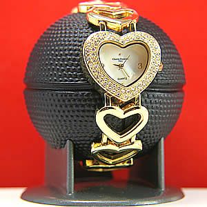 New Swarovski Crystal Charles Dumont Heart Women Watch