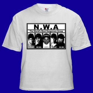 NWA Rap Hip Hop Eazy E Cube Dre Music T shirt S M L XL