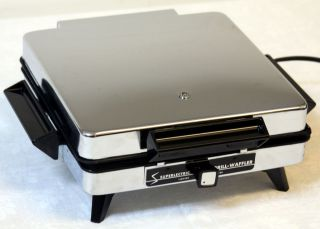 Superior Superlectric Grill Waffler Electric Waffle Maker 4 Square