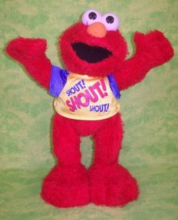 DANCE & SHOUT ELMO Tickle Me Animated Electronic Talking Singing Doll