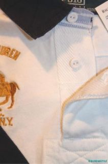 NWT $125 Polo Ralph Lauren Bleecker Dual Pony White Blue Classic Shirt