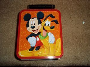 Mickey Mouse Pluto Mini Metal Lunchbox Disney New Factory Sealed
