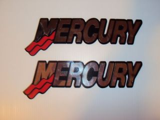 2 20 inch Mercury Chrome Outboard Boat Decals