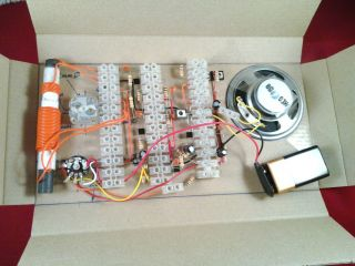 Choccy Block Six Transistor MW Am Radio Kit of Electronic Parts