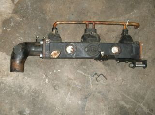 AQ130 B 20 block volvo penta exhaust manifold copper lines elbow