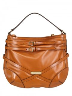 Burberry Dutton Tan Brown Leather Shoulder Bag Belted Purse $1295