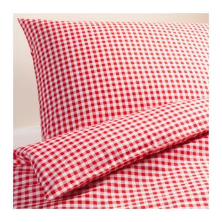 Ikea Duvet Cover with 2Pillowcases Red/White Checkered Brand New