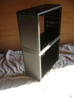 Black Gemini VHS Box DVD Case Storage Organizer Open Stock Shelf Rack
