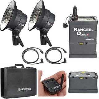Elinchrom Ranger Quadra Head S Pro Set 2 Flash Heads, Power Pack, EL