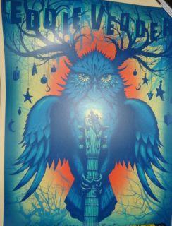 Eddie Vedder Jeff Soto Austin Concert Poster Pearl Jam