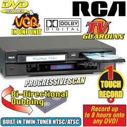 RCA DRC8335 DVD VCR Recorder Combo with Analog and Digital Tuners