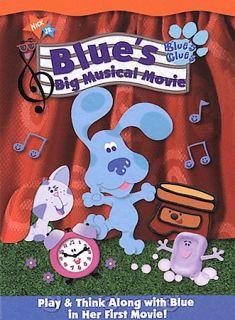 Blues Clues Blues Big Musical Movie DVD 2000 Sensormatic DVD 2000