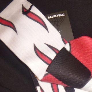 Custom Nike Elite Miami Heat Custom Socks RETRO 3 5 6 7 11 12 Fire Red
