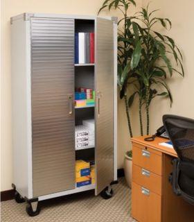 72 Tall Metal Storage Rolling File Tool Cabinet Locking Doors