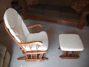 Dutailier Glider Rocking Chair with Gliding Foot Stool