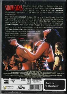 SHOWGIRLS   ELIZABETH BERKLEY & GINA GERSHAN NEW & SEALED DVD
