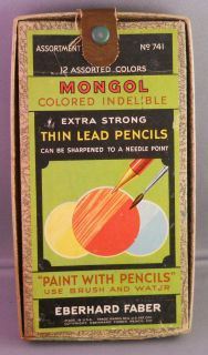 Eberhard Faber Vintage Mongol Color Pencil Set GREAT GRAPHICS