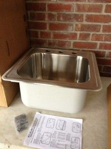 by 20 Stainless Steel Single Bowl Self Rimming Kitchen Sink
