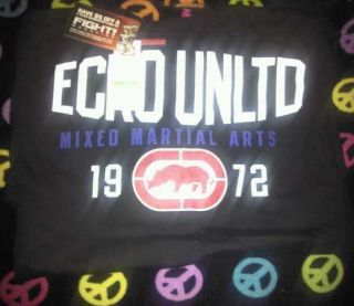 Ecko Unlimited MMA T Shirt Mens Large Size Black