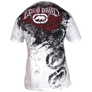 Ecko Unltd MMA UFC Slash Burn T Shirt Tee White RRP £30