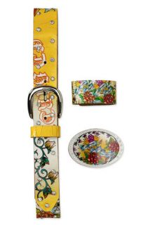 ED HARDY KIDS GIRLS BELT BUCKLE BRACELET M 3 PC GIFT SET FREE