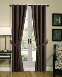 Panels Grommet Solid Micro suede Window Curtain Black,Purple,Brown