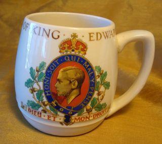 Official KING EDWARD VIII Solian Ware 1937 Coronation Cup Mug Soho
