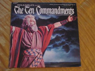 The Ten Commandments OST Elmer Bernstein 2 LP