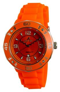 New Adee Kaye Ladies IP Red Dial Date Watch AK5567 L