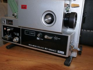 Elmo Sound St 1200D 1200 Super 8 8mm Film Projector