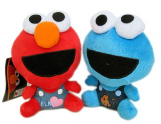 Set x 2 Brand New Sesame Street Stuffed Doll Elmo Cookie Monster Plush