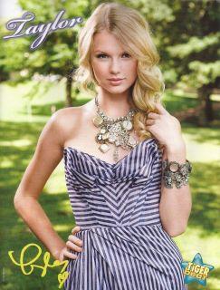 New Taylor Swift Huge Necklace 8x10 Mini Pin Up B w Teen Stars