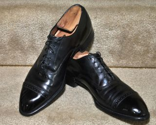 Vintage 40s 50s Edwin Clapp Cap Toe Mens Dress Shoes
