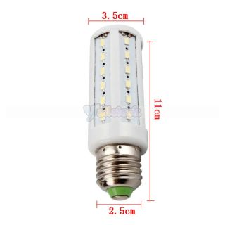 E27 44 LED 9W 110V SMD 5630 6000K Pure White LED Corn Light Bulb