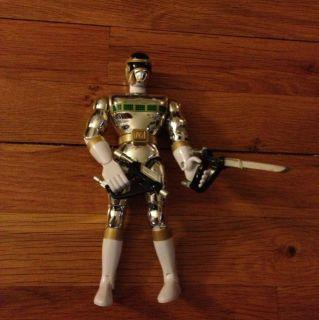 Vintage Vtg. Silver Mighty Morphin Power Rangers Ranger With Guns