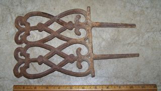 Decorative Cast Iron Flower Garden Edge Trim Border Fence Great