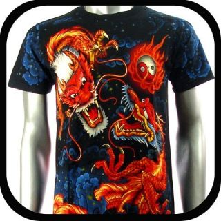 Rock Eagle T Shirt Limited Edition Dragon E13 Sz XXXL Rock Biker