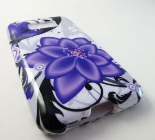 LILY FLOWERS HARD SHELL SNAP ON CASE COVER LG OPTIMUS ELITE ACCESSORY