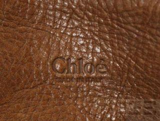 Chloe Nutmeg Brown Leather Edith Classic Satchel Bag