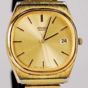 vintage men s estate seiko quartz wristwatch
