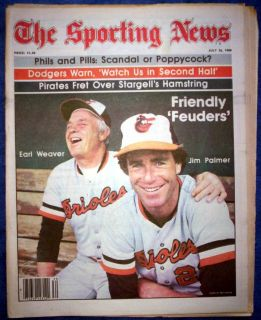 Baltimore Orioles 1980 Jim Palmer Earl Weaver Cover Feature Sporting