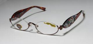 NEW ED HARDY EHR 202 49 18 140 HALF RIM EYEGLASS/GLASSES/FRAME +2.00