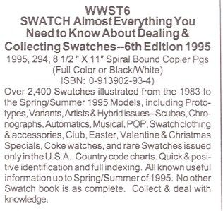 Roy Ehrhardt Swatch Watch Dealing Collecting Color Book Price Guide