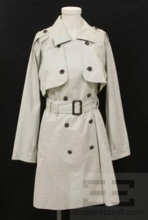 Elizabeth & James Tan Double Breasted Belted Trench Coat Size 4
