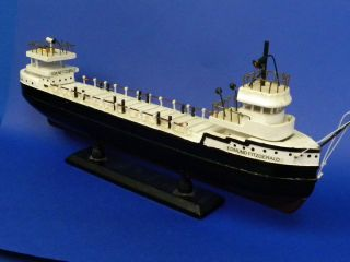 Edmund Fitzgerald Ore Carrier Bulk Freighter Wooden Model 16 Long