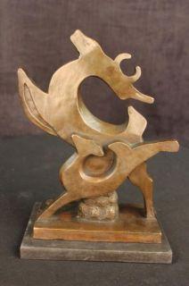 Elk Stag Buck Deer Wildlife Art Bronze Marble Statue Cabin Lodge
