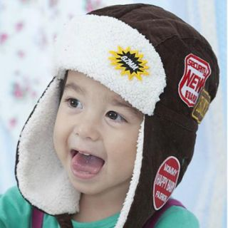 2013 New Baby Childrens Winter Warm Cap Hat Ear Protector Hat Coffee