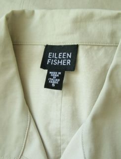 Eileen Fisher Long Light Beige Rain Trench Coat s Jacket Fall Winter